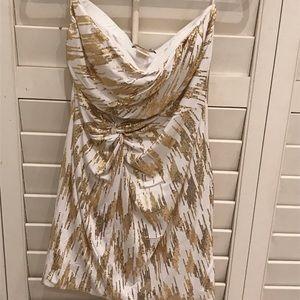 Sparkly strapless dress